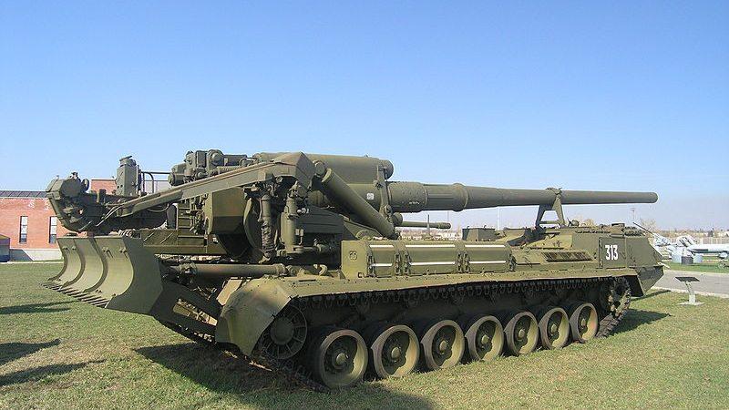 ქართული არმიის 203 მმ კალიბრის 2С7 «Пион»ის ტიპის თვითმავალმა ქვემეხებმა  2008 წლის აგვისტოს ომში რუს აგრსეორებს დიდი ზიანი მიაყენეს