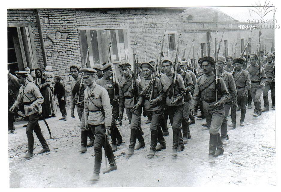"""1921 წლის რუსეთ საქართველოს თებერვალ მარტის ომის გმირები """"იუნკრები"""""""