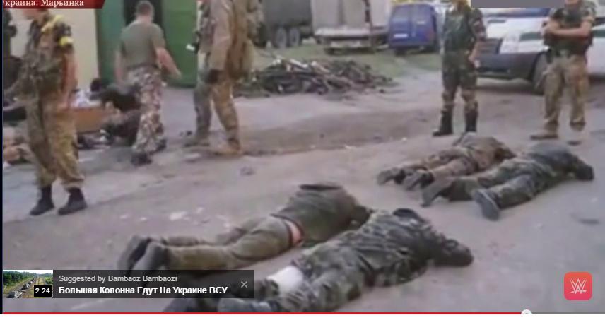 მარინკაში დატყვევებული რუსი ტერორისტები პუტინ ხუილოს მღერიან (ვიდეო)