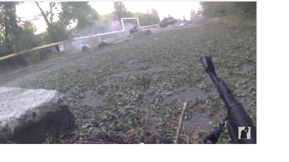 Неудачный штурм ополченцев. Камера засняла момент смерти и ранений. Донецк. Украина.