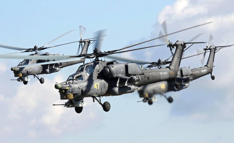 რუსეთში მი-28 ტიპის საბრძოლო შვეულფრენი ჩამოვარდა (ვიდეო)