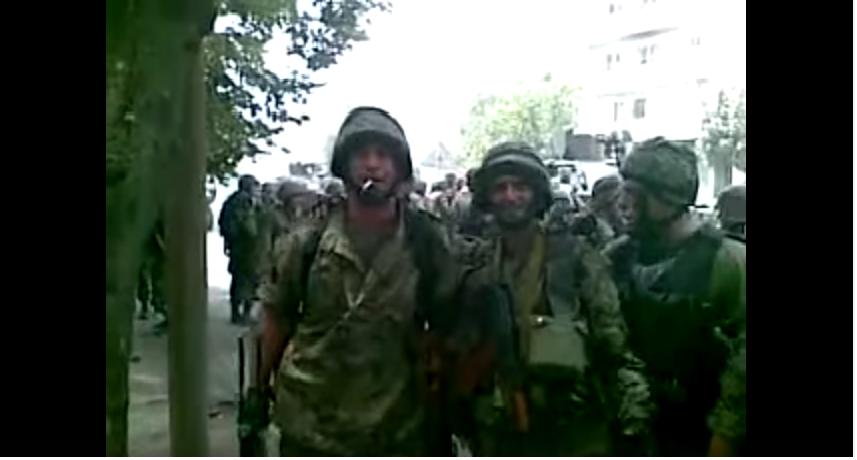 ქართველი ჯარისკაცები ცხინვალში. 2008 (ვიდეო)