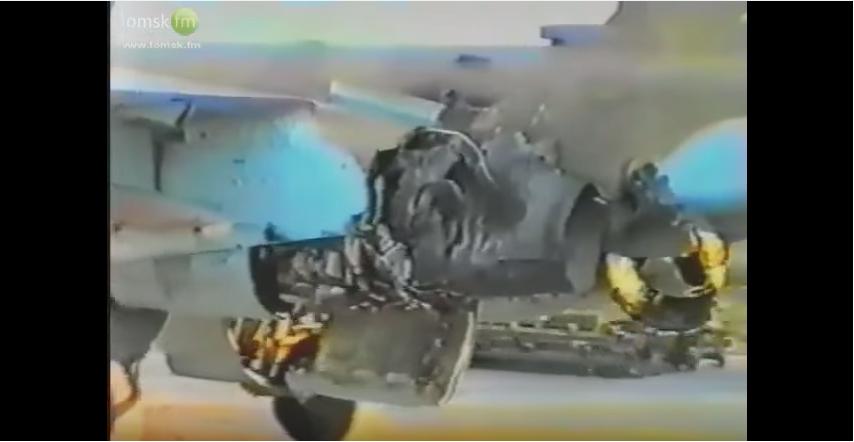 რუსული სუ-25 მოიერიშე თვითფრინავმა ჩეჩნეთის ომის დროს ერთი ძრავით მოახერხა  აეროდრომზე უკან დაბრუნება