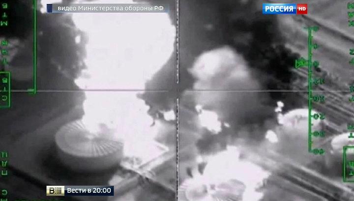 რუსულმა ავიაციამ ისლამური სახელმწიფოს საწვავმზიდი ავტომანქანების კოლონა გაანადგურა.(ვიდეო)
