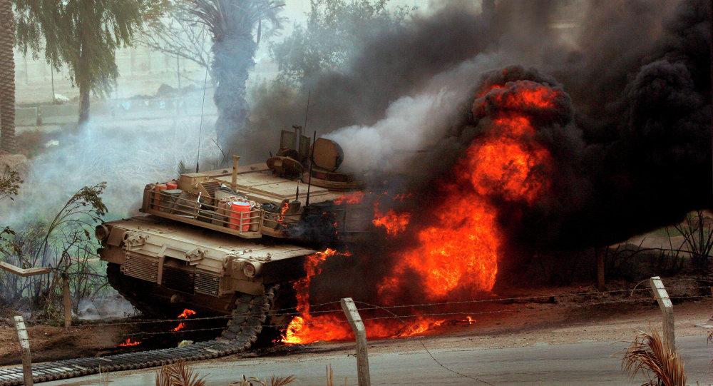 ისლამისტებმა ფაგოტით ერაყის არმიის აბრამსი ააფეთქეს.(ვიდეო)