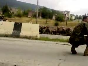 რუსეთის დროშის დაშვება. 8 აგვისტო
