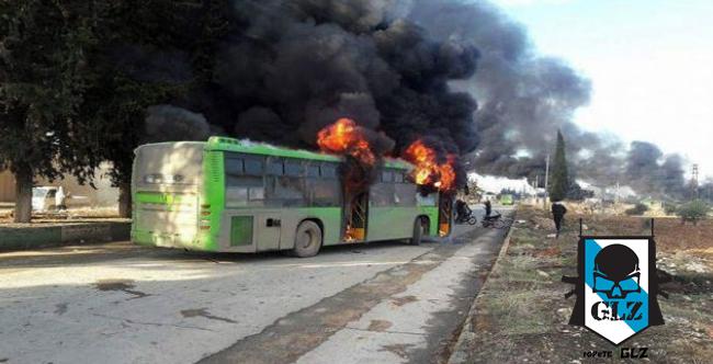 ალეპოში მშჰვიდობიანი მოსახელობის გასაყვანად შესულ ავტობუსებს ცეცხლი გაუხსნეს.(ვიდეო)