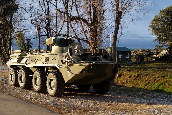 Подразделения российской военной базы ЮВО в Абхазии в рамках внезапной проверки приведены в боевую готовность