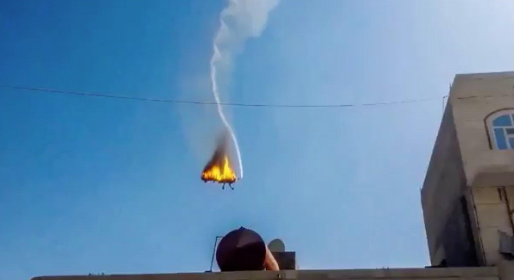 აშშ-ის საჰაერო ძალების MQ-9 reaper თვითმფრინავი იემენში აჯანყებულმა ჰუსიტებმა ჩამოაგდეს.