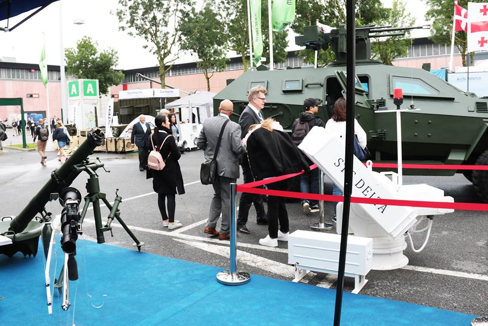 """საქართველოს ისტორიაში პირველად, მსოფლიოს უმსხვილეს სამხედრო გამოფენა EUROSATORY 2018-ზე სამხედრო სამეცნიერო-ტექნიკურ ცენტრ """"დელტას"""" მიერ წარმოდგენილ იქნა ქართული წარმოების სამხედრო პროდუქცია."""