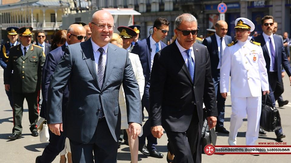 საქართველოს დამოუკიდებლობის დღეს თურქეთის თავდაცვის მინისტრი დაესწრო