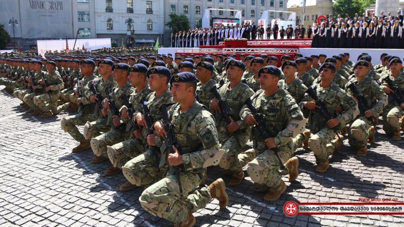 საქართველოს დამოუკიდებლობის დღე, საქართველოს თავდაცვის ძალებს 463 სამხედრო მოსამსახურე შეემატა.