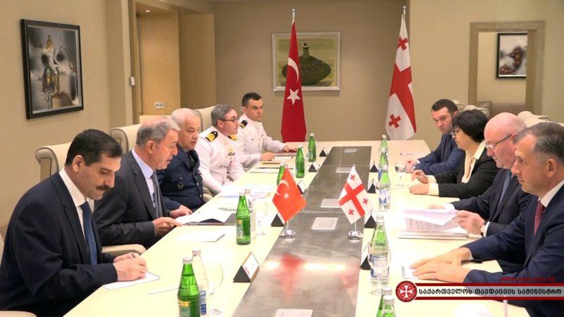 საქართველოსა და თურქეთის თავდაცვის მინისტრების შეხვედრა სამმხრივი მინისტერიალის ფარგლებში