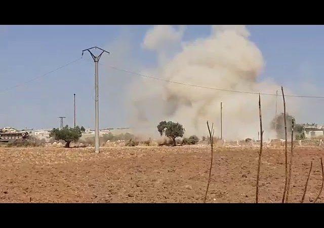 სირიის სამხედრო ავიაციამ პროვინცია იდლიბში თურქეთის არმიის სამხედრო კოლონა დაბომბა.(ვიდეო)