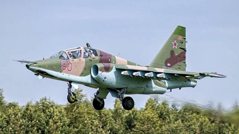 სტავროპოლში სასწავლო -საბრძოლო მოიერიშე თვითფრინავი Сy-25УБ ჩამოვარდა