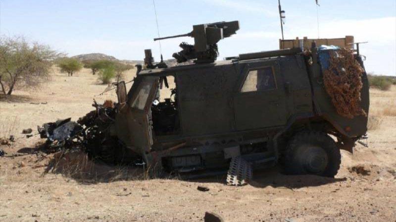 მალიში  ბელგიის არმიის Dingo ტიპის  ჯავშანმანქანა  ააფეთქეს