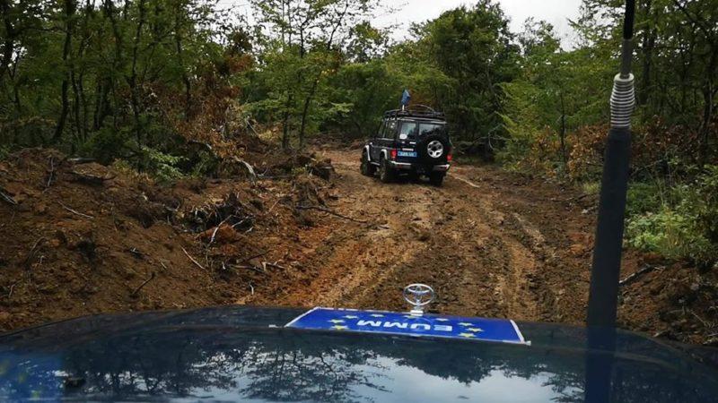 ევროკავშირის სადამკვირვებლო მისიის გორის რეგიონალური ოფისის სადამკვირვებლო ჯგუფი ჩორჩანას ტყეში რეგულარულ პატრლულირებას ახორციელებს.