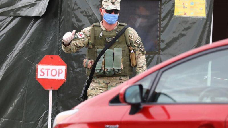 სამხედროები სარფი-ბათუმი-ქობულეთის გზის მონაკვეთს აკონტროლებენ