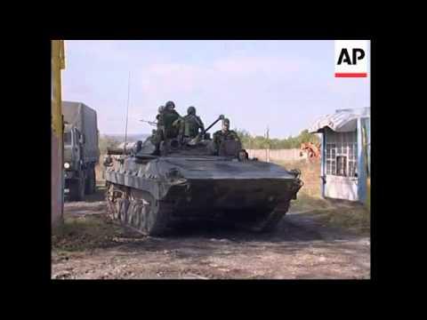 რუსული საოკუპაციო ჯარები  გორის რაიონის სოფლებიდან გასვლას იწყებენ , საქართველოში ევროკავშირის მონიტორები ჩამოდიან. 2008 წლის აგვისტო.