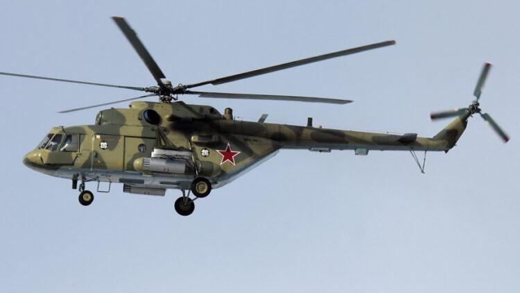 მოსკოვთან  საჰაერო ძალების Ми-8 ტიპის სამხედრო სატრანსპორტო შვეულფრენი ჩამოვარდა